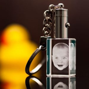 3D Photo Crystal Engraved Keychain