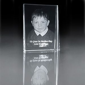 2D engraved photo crystal