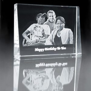 Your Own Photo Engraving Personalised Glass Photo Block In Loving Memory