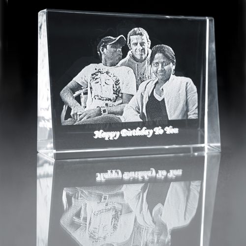 2D Engraved Photo Crystal Gift