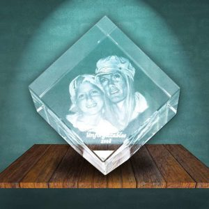 3D Photo Crystal Diamond Large