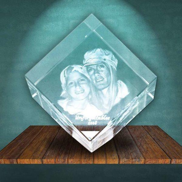 3D Photo Crystal Diamond Large