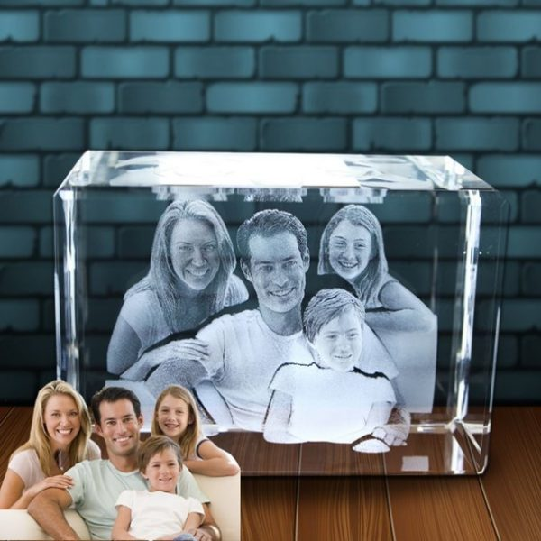 3D Photo in Glass XLarge