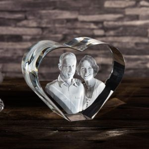 xxlarge 3d photo heart crystal