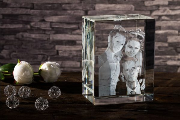 20cm large 3d photo crystal