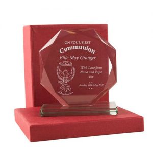 1st Holy Communion Engraved Glass Gift