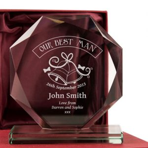 Best Man Engraved Glass Gift