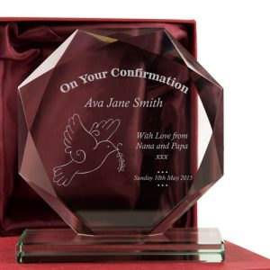 Confirmation Personalised Engraved Glass Gift