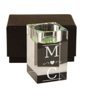 Couple's Initials Personalised Tealight Holder
