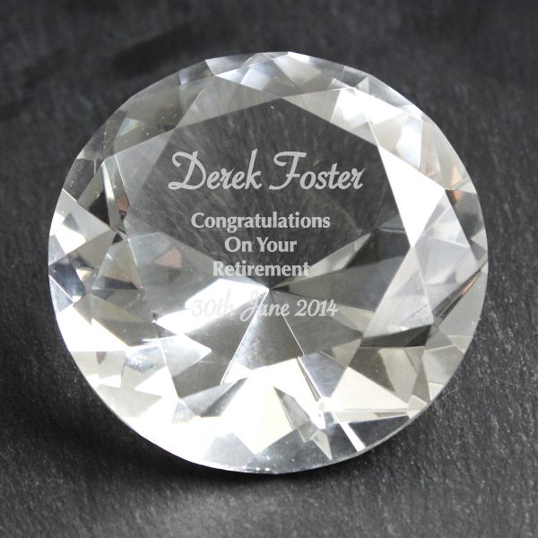 Diamond Paperweight with Personalised Message