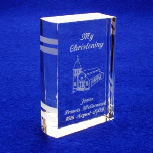 Engraved Christening Bible Church Design