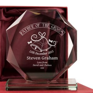 Father of the Groom Engraved Glass Gift