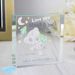Love you to the Moon & Back Crystal Token