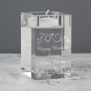 Ornate Swirl Personalised Tealight Holder
