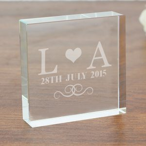 Personalised Monogram Crystal Token