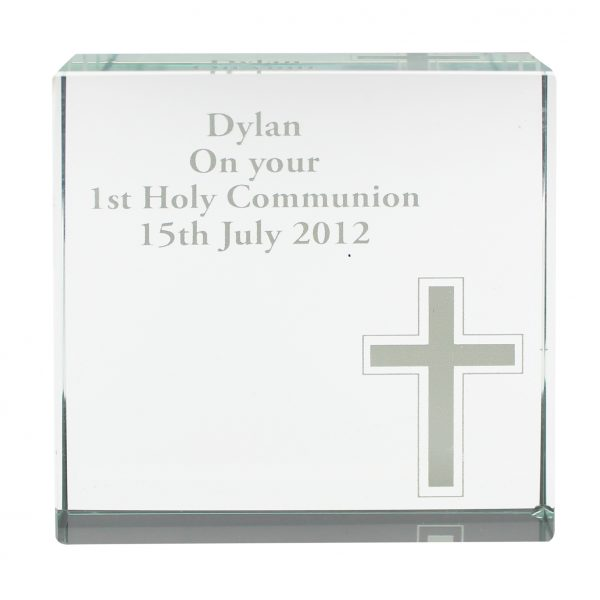 Personalised Cross Large Crystal Token