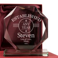 Personalised Birthday Glass Gift Award