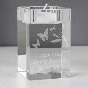 Personalised Butterfly Tealight Holder