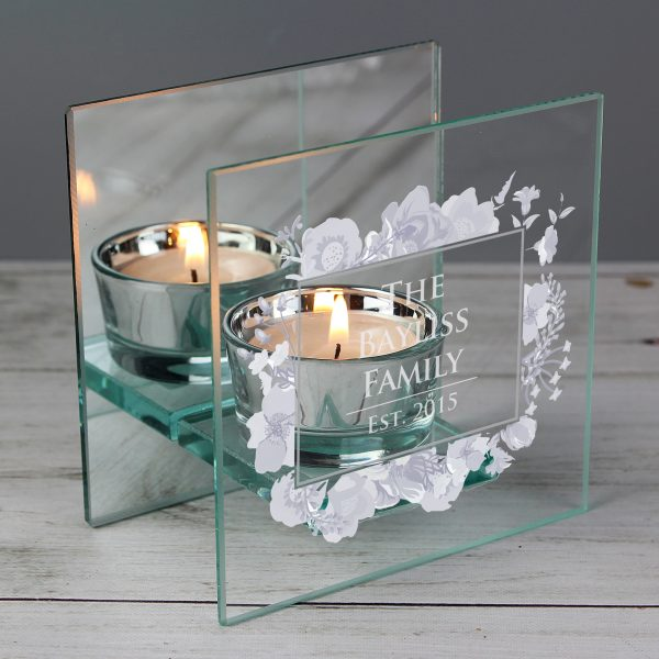 Personalised Glass Tea Light Holder