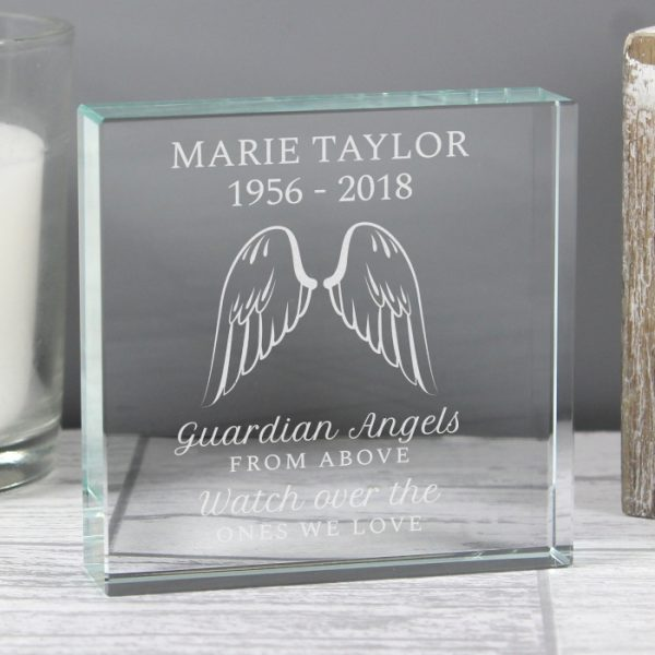 Personalised Memorial Glass Keepsake