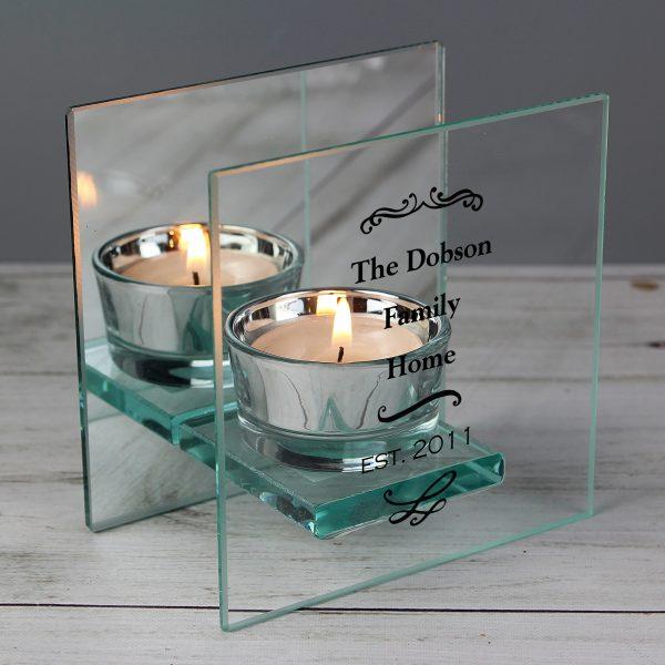Personalised Mirrored Tealight Holder