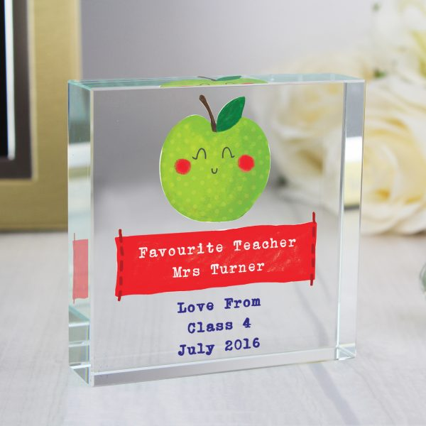 Thank You Teacher Personalised Glass Token