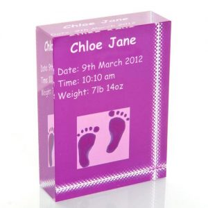 Violet Feet Personalised Glass Keepsake Gift