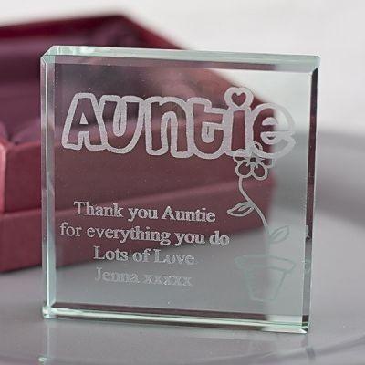 Auntie Glass Keepsake Gift