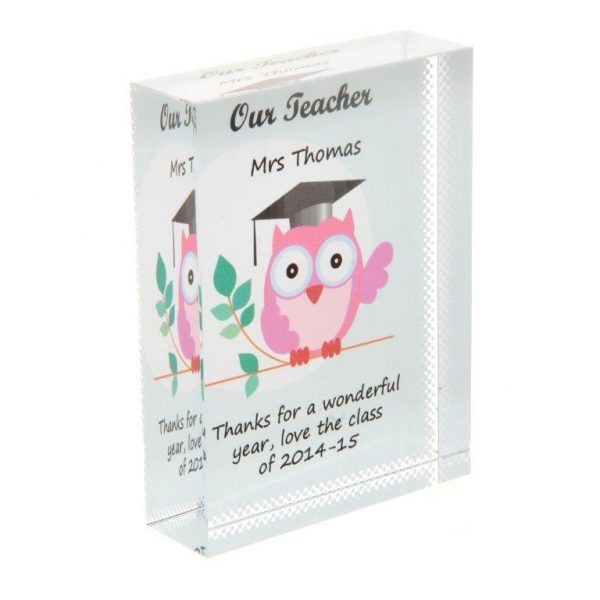 Our Teacher Personalised Glass Keepsake Gift