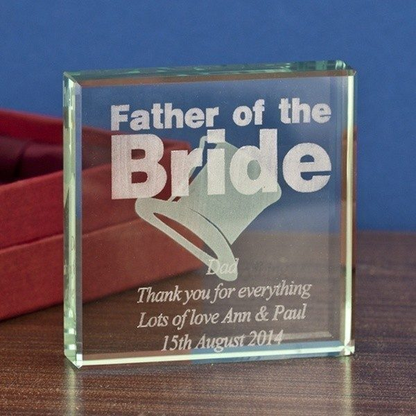 Father of the Bride Glass Keepsake