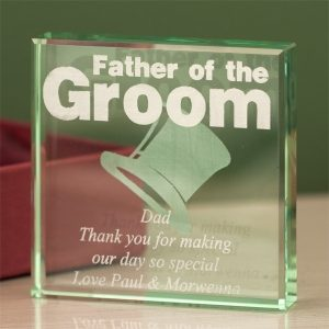 Father of the Groom Glass Keepsake