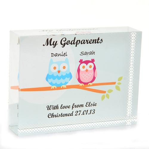 Godparent Personalised Glass Gift