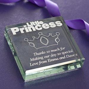 Little Princess Glass Keepsake