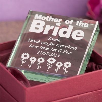 Mother of the Bride Glass Keepsake