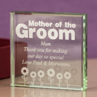Mother of the Groom Glass Keepsake