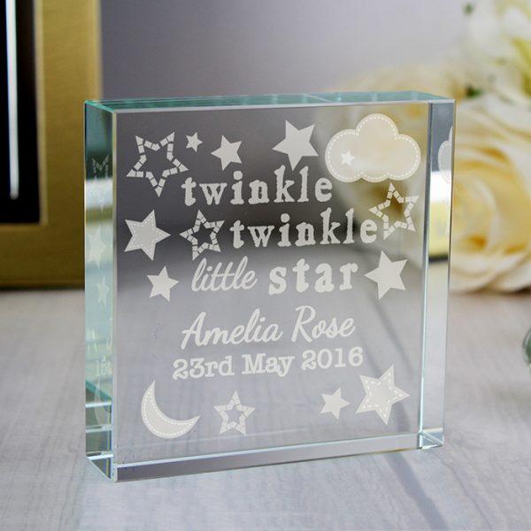 Twinkle Twinkle Large Crystal Block