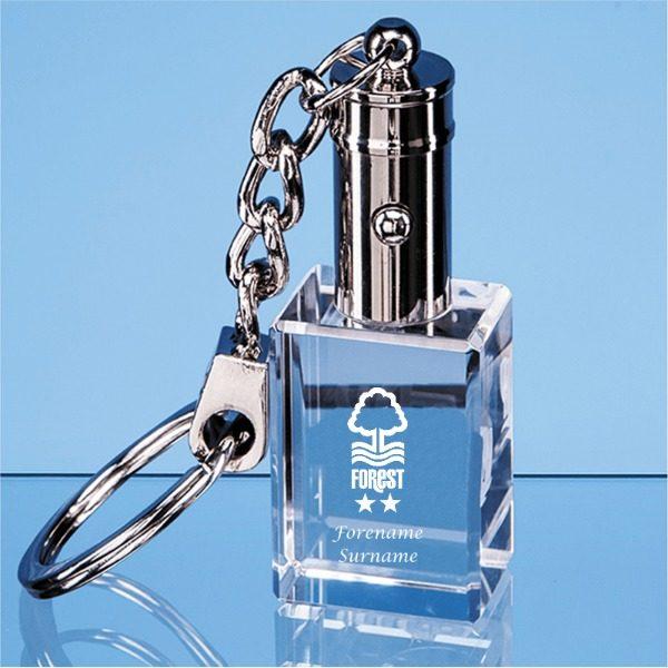 Nottingham Forest F.C. Crystal LED Keychain