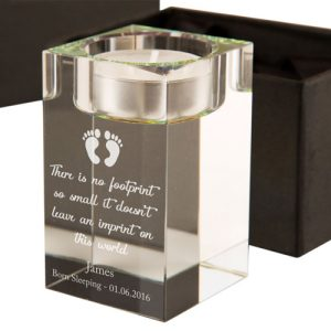 Baby Footprint Memorial Tealight Holder
