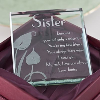 Sister Glass Keepsake