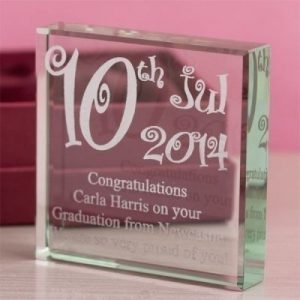 Special Date Square Glass Keepsake