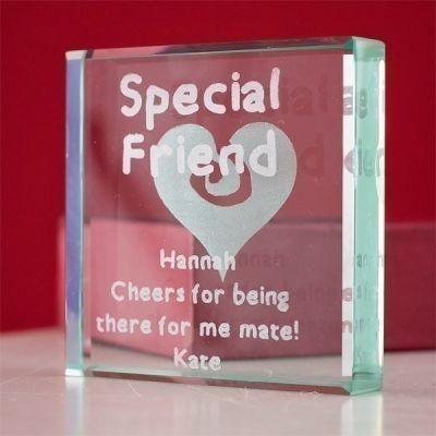 Special Friend Glass Keepsake