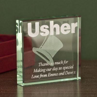 Usher Square Glass Keepsake