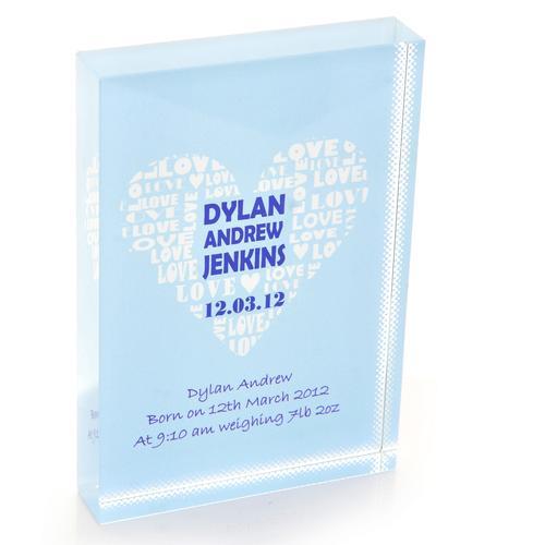 Heart of Love Personalised Glass Keepsake Gift