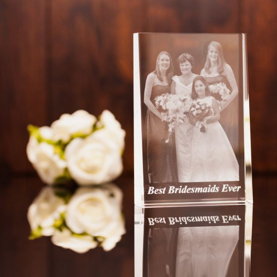 Large Portrait Engraved Photo Crystal