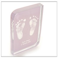 Grey Baby Hand and Footprint Wave Crystal