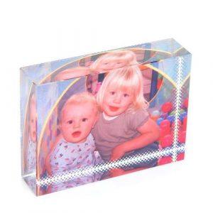 photo crystal block