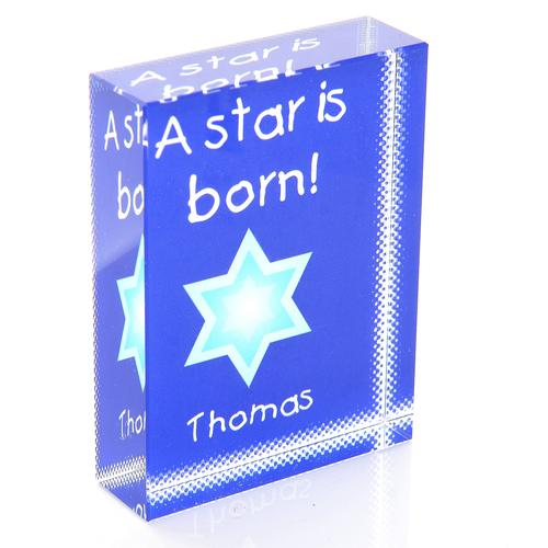 A Star Is Born Personalised Glass Block