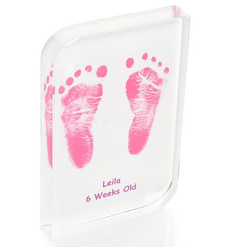 Frosted Baby Hand and Footprint Wave Crystal
