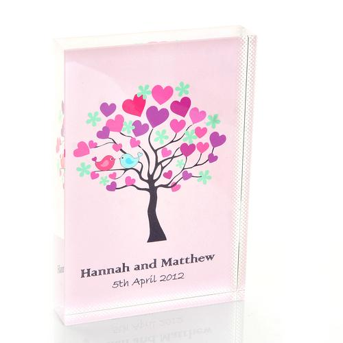 Tree of Hearts Wedding Crystal