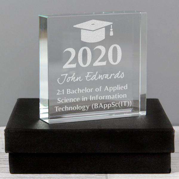 Personalised Graduation Crystal Token